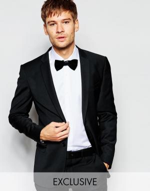 Number Eight Savile Row Эластичный пиджак скинни эксклюзивно для. Цвет: черный