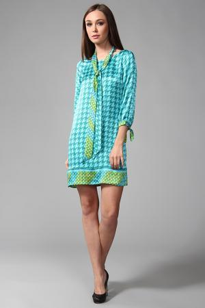 Платье Hale Bob. Цвет: голубой