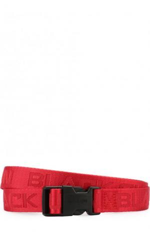 Текстильный ремень Black Sun Palm Angels. Цвет: красный