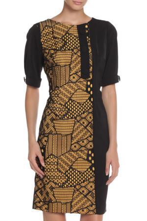 Платье MODART. Цвет: черный, горчичный