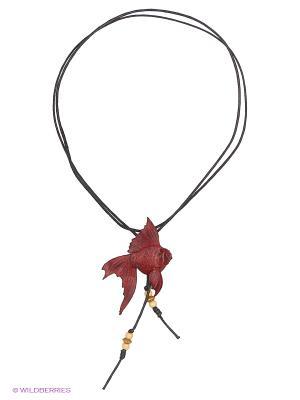 Кулон-галстук Рыбка Мастер ГРиСС. Цвет: бордовый, красный