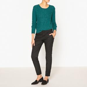 Пуловер из оригинального трикотажа MELI HARRIS WILSON. Цвет: сине-зеленый,экрю
