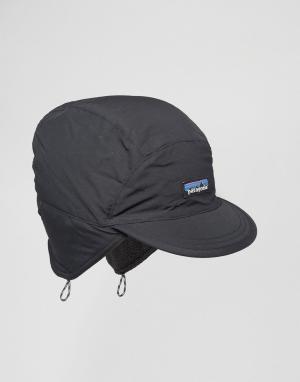 Patagonia Черная кепка Synchilla. Цвет: черный