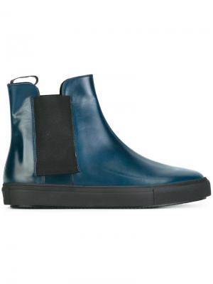 Ботинки с закругленным носком Fratelli Rossetti. Цвет: синий