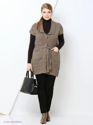 Кардиган Milana Style. Цвет: хаки, серый, бронзовый