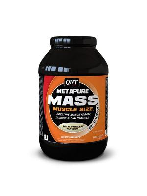 Гейнер QNT METAPURE MASS+ (молоко/ваниль), 1,1кг. Цвет: черный