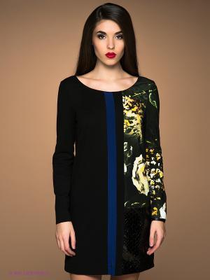 Платье Class Cavalli. Цвет: черный, темно-зеленый, желтый