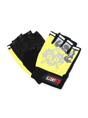 Перчатки спортивные Eleon. Цвет: черный, желтый