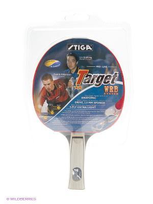 Ракетка н/т 2* STIGA Target WRB  (ITTF). Цвет: бежевый, красный