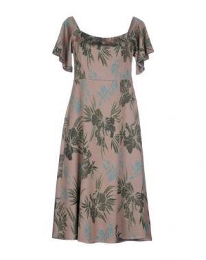 Платье до колена DIXIE. Цвет: голубиный серый