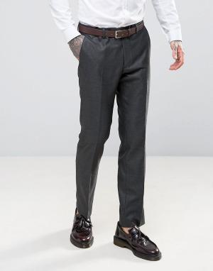 Harry Brown Саржевые брюки слим. Цвет: серый