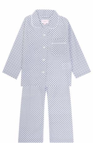 Хлопковая пижама с принтом Derek Rose. Цвет: белый