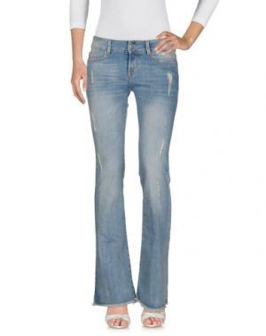 Джинсовые брюки CIMARRON. Цвет: синий