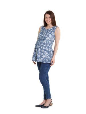 Блузка impressmama. Цвет: серо-голубой