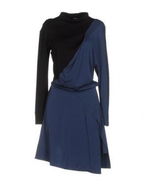 Платье до колена ATLEIN. Цвет: грифельно-синий