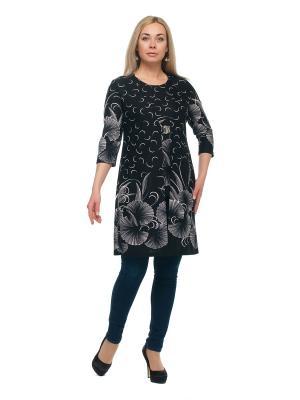 Кардиган + блузка OLSI. Цвет: черный, белый