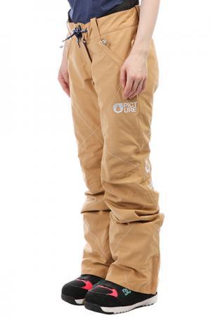 Штаны сноубордические женские  Cooler Coffe Picture Organic. Цвет: бежевый