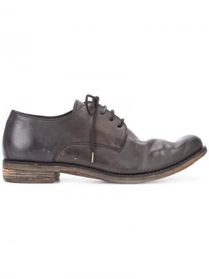 Ботинки на шнуровке с эффектом поношенности A Diciannoveventitre. Цвет: коричневый