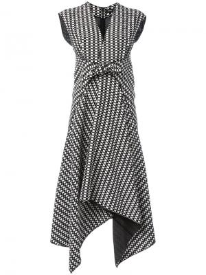 Платье миди с неравномерным подолом Proenza Schouler. Цвет: чёрный