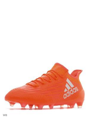 Футбольные бутсы (мяг.покр.) муж. X 16.1 FG Adidas. Цвет: красный, оранжевый