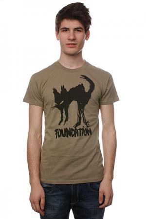 Футболка  F-Ink Cat Light Olive Foundation. Цвет: бежевый