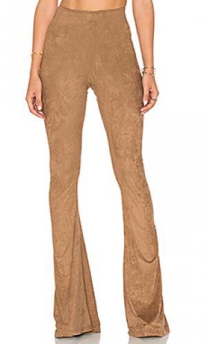 Расклешенные от колена брюки bam Show Me Your Mumu. Цвет: коричневый