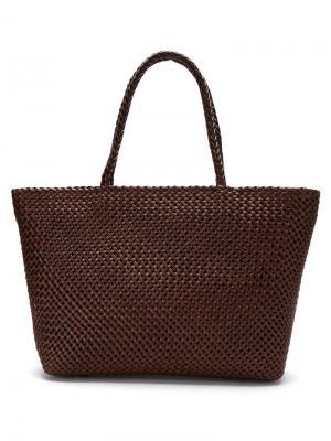 Woven tote bag Serpui. Цвет: коричневый