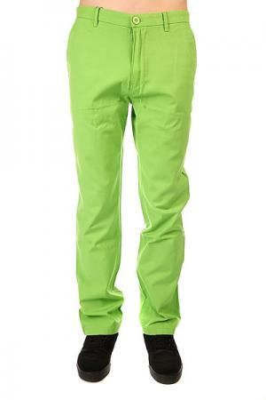 Штаны прямые  Chino Pants Limegreen Urban Classics. Цвет: зеленый