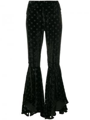 Расклешенные брюки House Of Holland. Цвет: чёрный