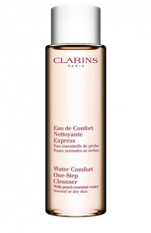 Очищающая вода для лица нормальной или сухой кожи Clarins. Цвет: бесцветный