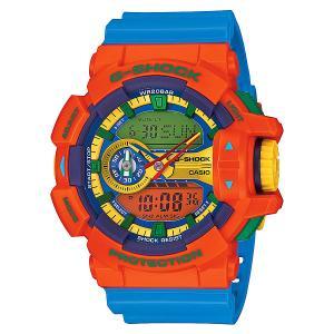 Часы  Ga-400-4a Orange/Blue Casio G-Shock. Цвет: оранжевый,голубой