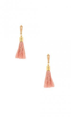Серьги с серёжками tinsley Mimi & Lu. Цвет: металлический золотой