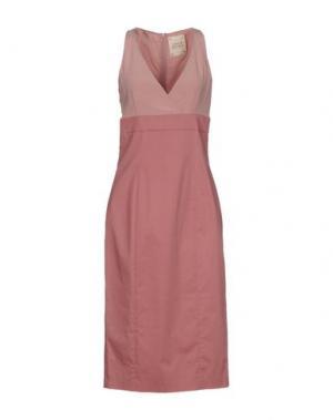 Платье до колена GARAGE NOUVEAU. Цвет: пастельно-розовый