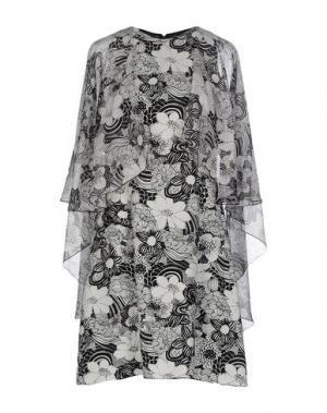 Короткое платье GIAMBA. Цвет: черный