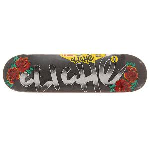Дека для скейтборда  S6 Hyb Handwritten Tattoo Multi 31.8 x 8.375 (21.3 см) Cliche. Цвет: серый
