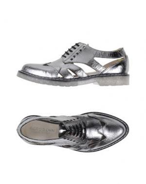 Обувь на шнурках FABRIZIO CHINI. Цвет: серебристый