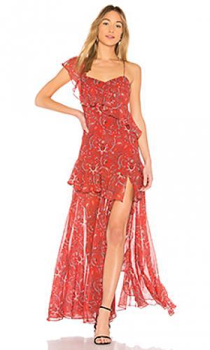Вечернее платье valeria AMUR. Цвет: ржавый