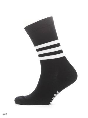 Носки взр. THIN CREW SOCK  WHITE/BLACK/MGREYH Adidas. Цвет: белый, серый, черный