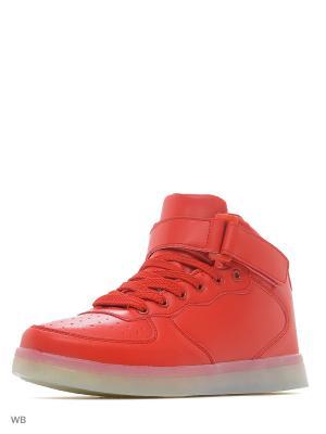 Светящиеся кроссовки Street LedShoes. Цвет: красный