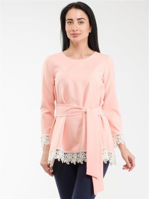 Блузка Style4you. Цвет: бледно-розовый