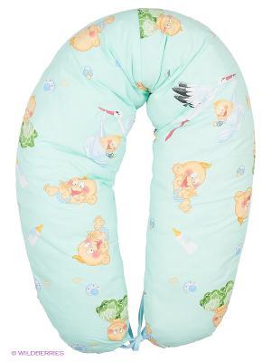 Подушка для беременных и кормления 40 недель. Цвет: лазурный