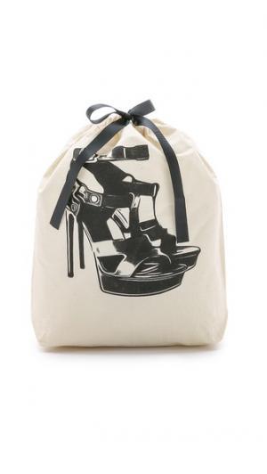 Сумка-органайзер с изображением босоножек на высоком каблуке Bag-all