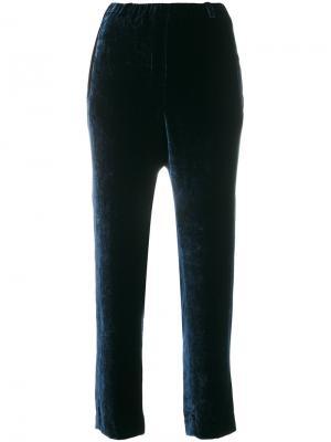 Бархатные брюки Incotex. Цвет: синий