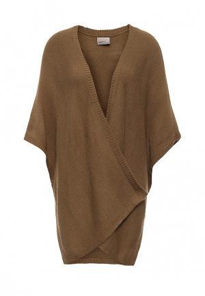 Накидка Vero Moda. Цвет: коричневый