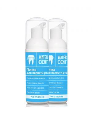 Waterdent Набор Пенок укрепляющих для полости рта - Экстракт облепихи и ромашки, 2 шт. по  50 мл Global White. Цвет: синий, белый