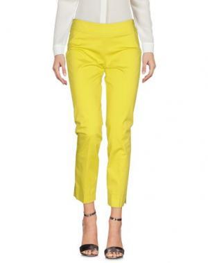 Повседневные брюки ROCCOBAROCCO. Цвет: кислотно-зеленый