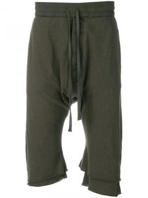 Спортивные брюки с заниженным шаговым швом Thom Krom. Цвет: зелёный