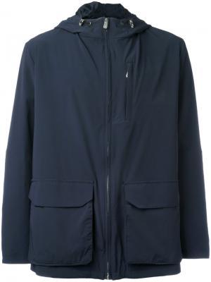Куртка с капюшоном Eleventy. Цвет: синий