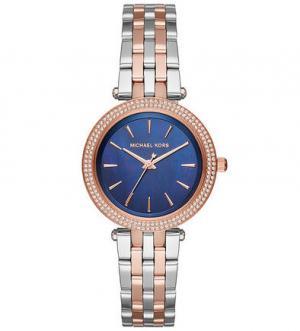 Кварцевые часы с синим циферблатом Michael Kors
