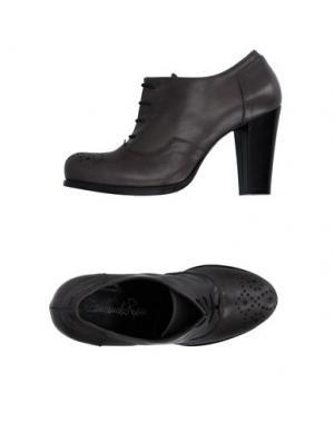 Обувь на шнурках EMANUELA PASSERI. Цвет: свинцово-серый